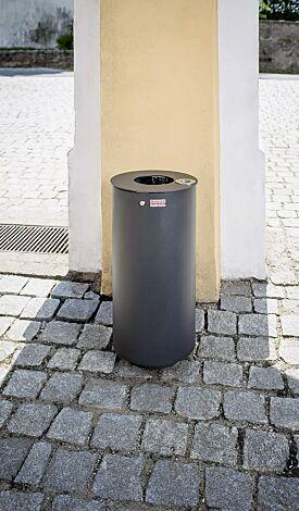 Abfallbehälter NORANDA mit Ascher, in DB 703 eisenglimmer