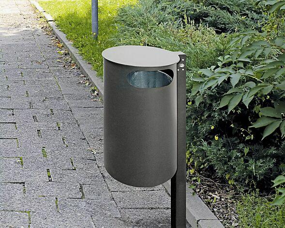 """<div id=""""container"""" class=""""container"""">Abfallbehälter PAARL, ohne Ascher, zum Einbetonieren, in DB 703 eisenglimmer</div>"""