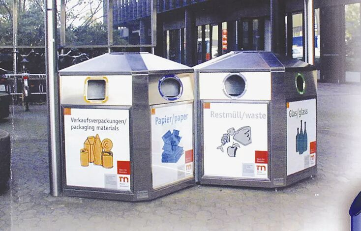 Abfallbehälter SURREY TRIO