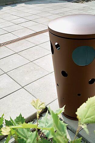 Abfallbehälter SWISSBIN zum freien Aufstellen, in RAL 8024 beigebraun