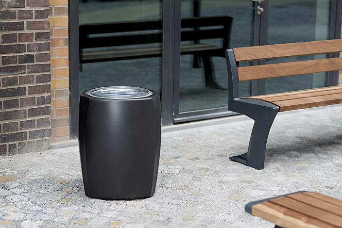 Abfallbehälter TALLIN in RAL 7016 anthrazitgrau