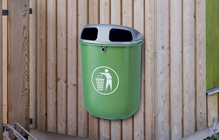 """<div id=""""container"""" class=""""container"""">Abfallbehälter TORBAY, ohne Ascher, Behälter in smaragdgrün ähnlich RAL 6001</div>"""