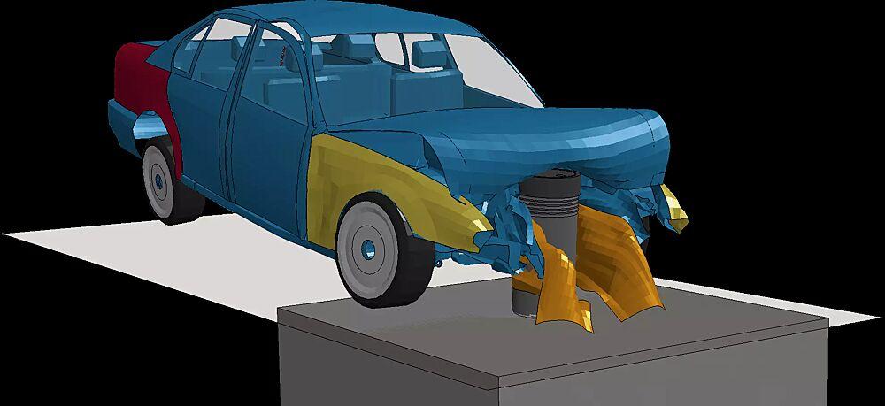 Simulation eines Anpralls durch ein Rammfahrzeug