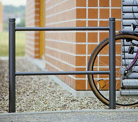 """<div id=""""container"""" class=""""container"""">Anlehngeländer mit Poller BOULEVARD 60 in RAL 7016 anthrazitgrau</div>"""
