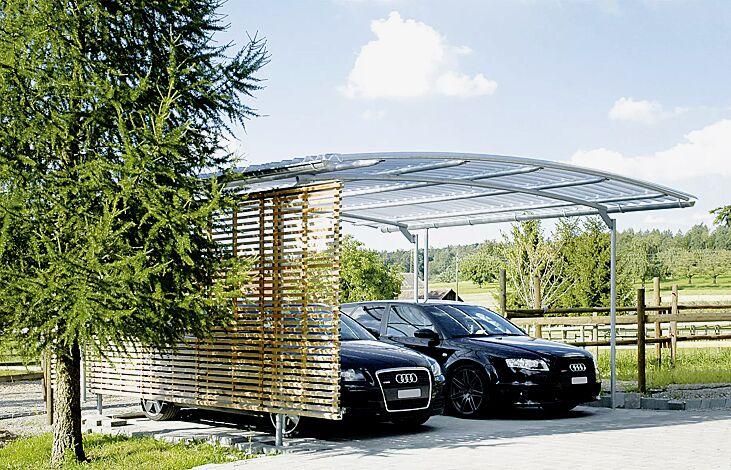 BWA bausystem® Carport: Variante mit lichtdurchlässigem Dach