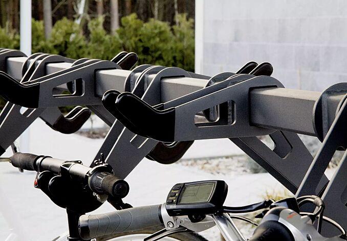 Design-Lenkerhalter mit Laserausschnitt und Kunststoffummantelung, Hoch- / Tiefstellung