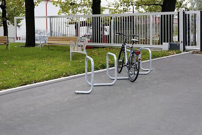 Fahrrad-Parkschnecke ATLANTA, 1 Grundeinheit bei einseitiger Nutzung für 4 Stellplätze bzw. 8 Stellplätze bei doppelseitiger Nutzung