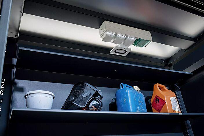 Detail: Steckdosenleiste inklusive LED-Strahler (Mehpreis)
