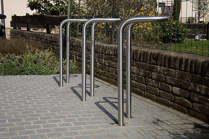 Fahrradparker INDICO, in Edelstahl