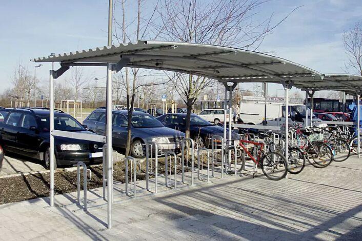 Fahrradüberdachung BWA, siehe Katalogseite 354-355