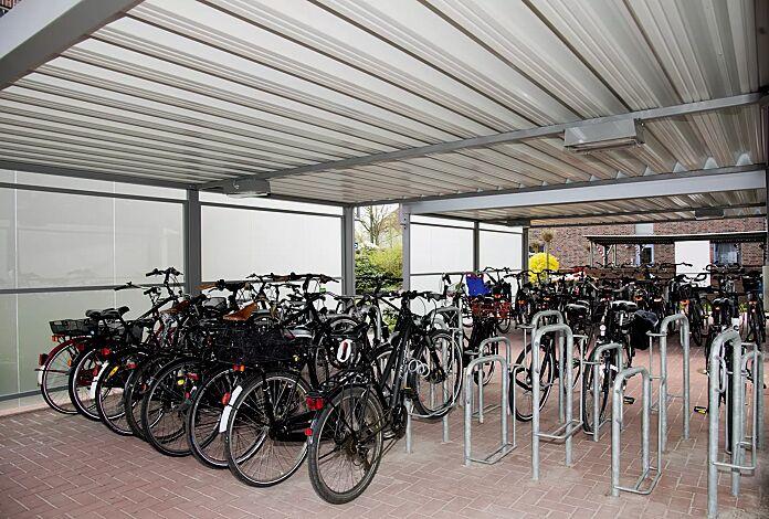 Einzelparker MISSOURI, feuerverzinkt, einseitig 90°, Radeinstellung tief / hoch zum Einbetonieren