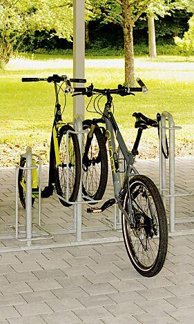 Reihenparker MISSOURI, doppelseitig 90°, Radeinstellung tief / hoch, zum Aufdübeln bei +/- 0 mm