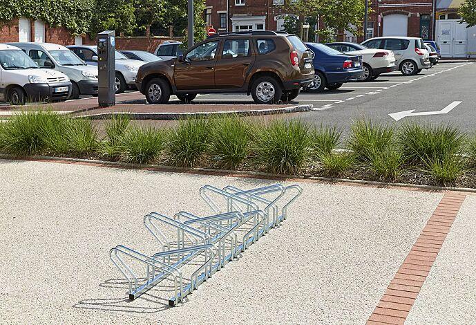 Fahrradständer ARIZONA doppelseitig, 10 Stellplätze