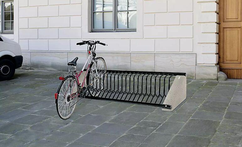 Fahrradständer AURORA in RAL 9004 signalschwarz