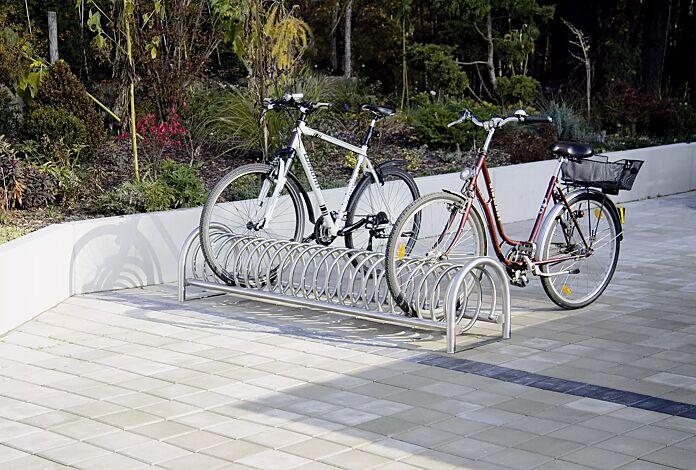 Fahrradständer BALLINA, 5 Stellplätze, Edelstahl
