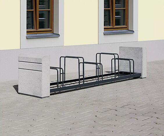 """<div id=""""container"""" class=""""container"""">Fahrradständer BRNO, Stahlteile in RAL 7021 schwarzgrau</div>"""