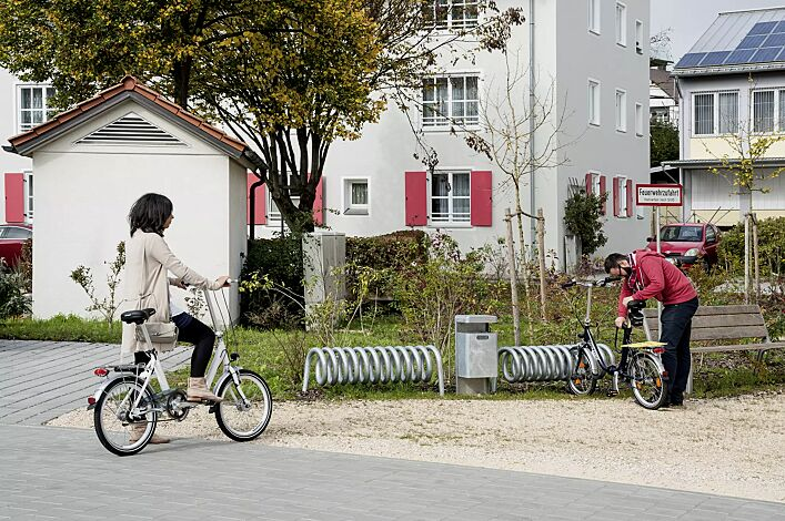 Fahrradständer DESIGN-PARKER zum Einbetonieren, feuerverzinkt