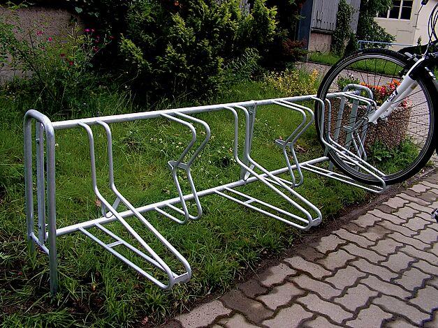 Fahrradständer MADISON einseitig, Grundeinheit, zum Einbetonieren, 6 Stellplätze