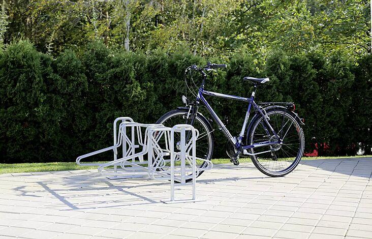 Fahrradständer MADISON doppelseitig, Grundeinheit, zum Aufdübeln, 8 Stellplätze