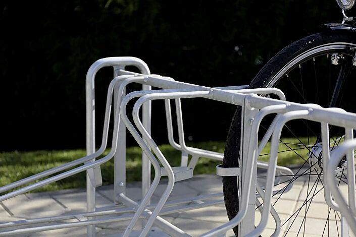 Fahrradständer MADISON, zum Aufdübeln, 10 Stellplätze