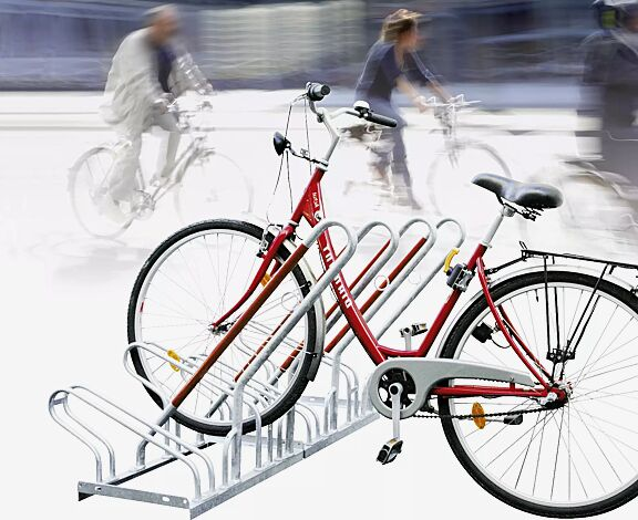 """<div id=""""container"""" class=""""container"""">Fahrradständer NEW YORK einseitig, 4 Stellplätze, 4 Anlehnbügel</div>"""