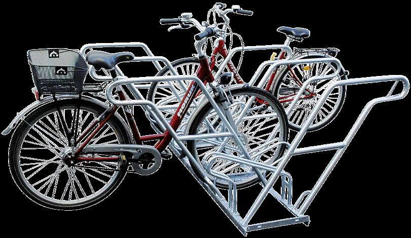 Fahrradständer OHIO, doppelseitig, 6 Stellplätze, 6 Anlehnbügel