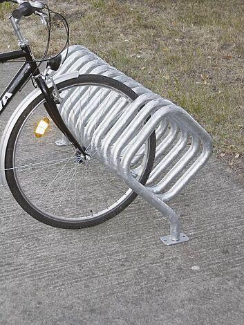 Fahrradständer QUADRA zum Aufdübeln, feuerverzinkt