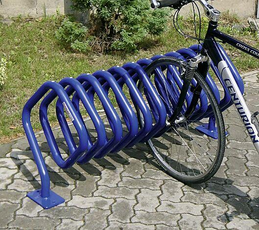 """<div id=""""container"""" class=""""container"""">Fahrradständer QUADRA zum Aufdübeln, pulverbeschichtet in RAL 5017 verkehrsblau</div>"""