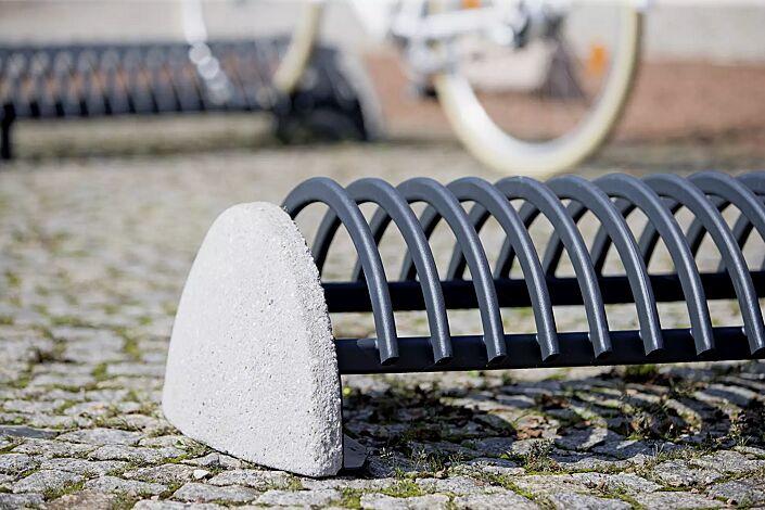 Fahrradständer RICCIO mit Betonsockel, in RAL 7016 anthrazitgrau