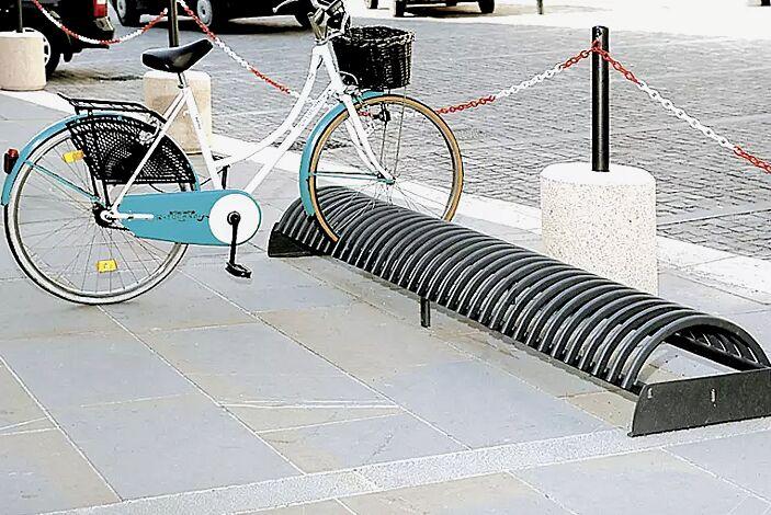 Fahrradständer RICCIO ohne Betonsockel, in RAL 7016 anthrazitgrau