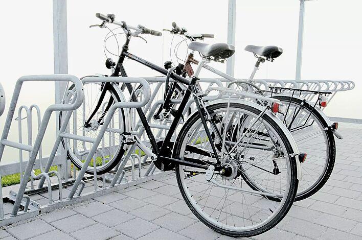 Fahrradständer RIVERSIDE einseitig, 4 x 2 Stellplätze, 8 Anlehnbügel
