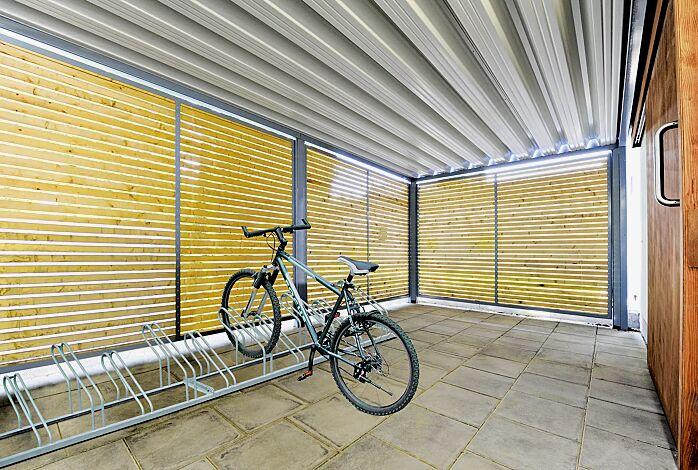Fahrradständer UNIVERSAL, einseitig, 2 x 6 Stellplätze