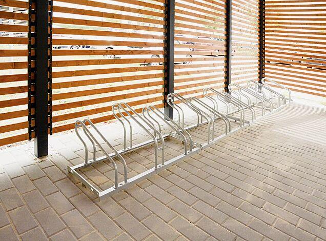 Fahrradständer UNIVERSAL einseitig 90°, 12 Stellplätze, feuerverzinkt
