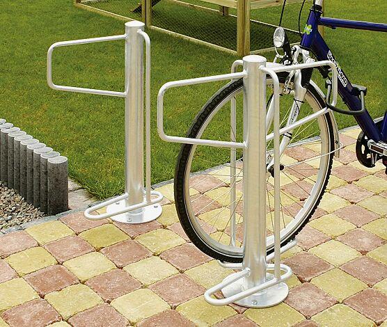 Fahrradständer WARREN einseitig und doppelseitig, zum Aufdübeln, feuerverzinkt