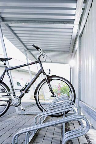 Detail: Fahrradüberdachung Z05 mit Fahrradständer UNIVERSAL
