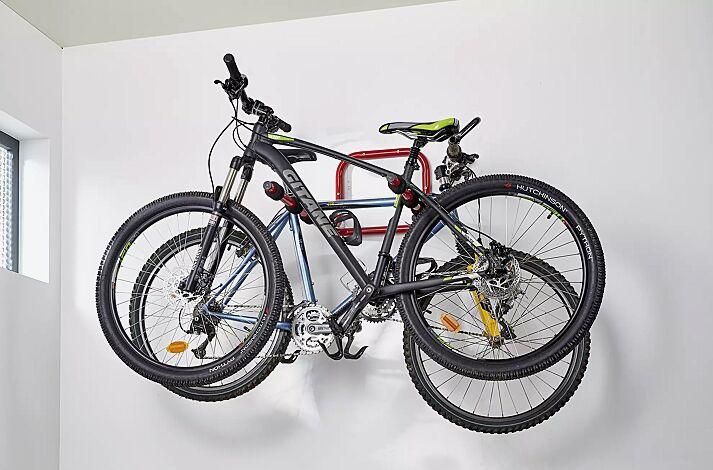 Fahrradwandparker ISLAND, 3 Stellplätze, mit schwarzem Schaumstoff ummantelt