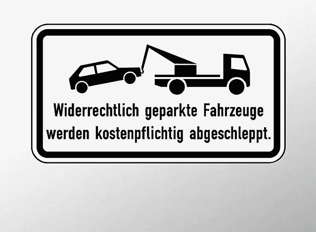 Verkehrszeichen: Widerrechtlich geparkte Fahrzeuge