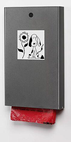 Hundekotbeutelspender MANETO, zur Wandbefestigung, in eisenglimmer ähnlich DB 703
