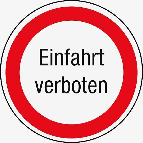Kennzeichnung von Ein- und Ausfahrten