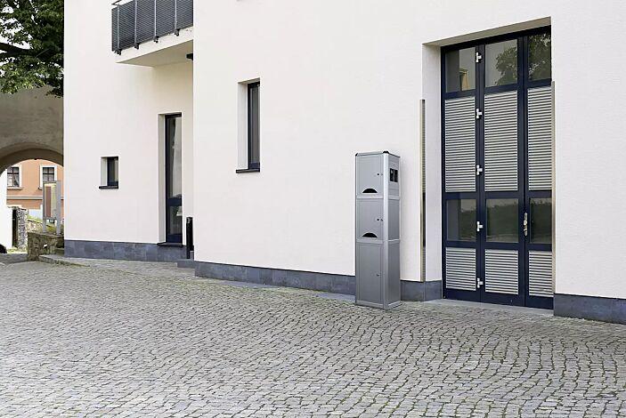 """<div id=""""container"""" class=""""container"""">Ladesäule CORVI, 2 kleine Schließfächer, integrierte Steuerzentale mit Zugangsautorisierung PIN-Code</div>"""