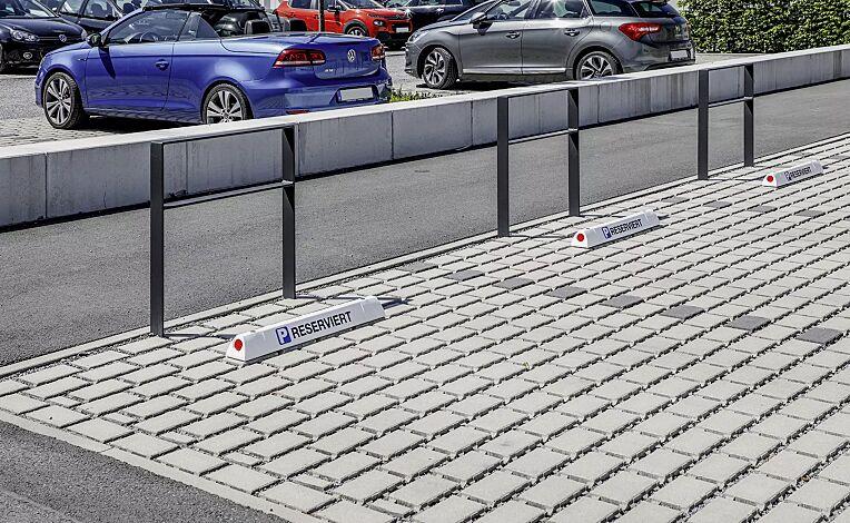 Leitbalken COBRA, Länge 900 mm in weiß mit Beschriftung (gegen Mehrpreis)