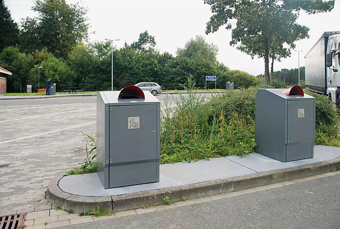 """Müllbehälterschrank MARGATE mit Schild """"Saubermännchen"""" (Zubehör)"""