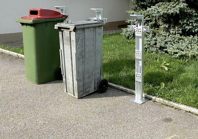 Mülltonensäule FIXOUT, feuerverzinkt, zum Aufdübeln