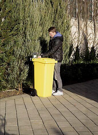 Mülltonensäule FIXOUT, feuerverzinkt, zum Aufdübeln, für Mülltonnen 120 bis 240 Liter