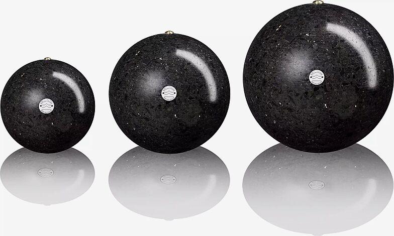 Poller SFERA aus Marmor geschliffen, in schwarz ebano