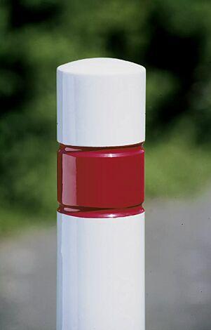 gegen Mehrpreis rot-weiß pulverbeschichtet