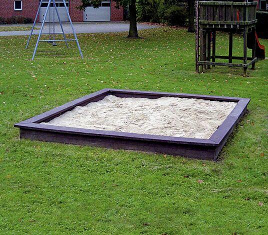 Sandkasten BUDDELFLINK in braun, aus Recyclingkunststoff