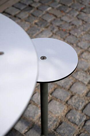 Detail: HPL-Auflage in weiß