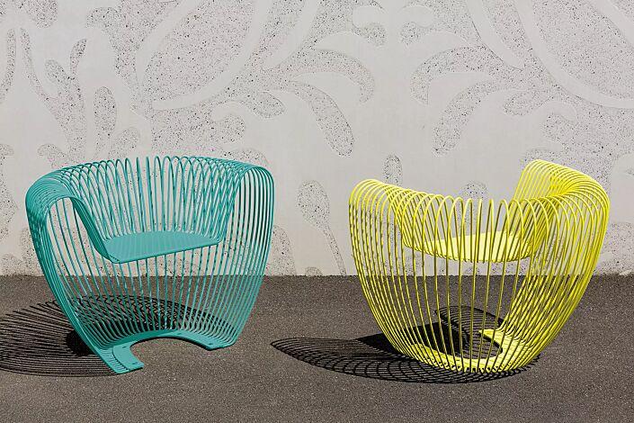 Sitz BUBBLE in grün und gelb (Sonderfarbe auf Anfrage)