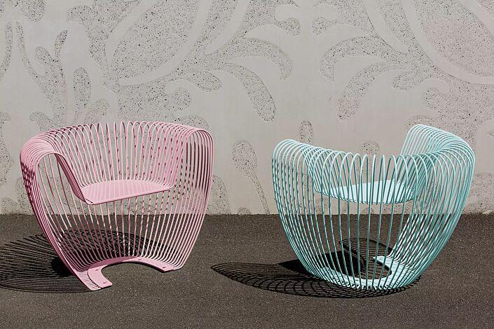 Sitz BUBBLE in pink und blau (Sonderfarben auf Anfrage)